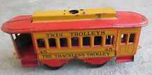 trackless trolley tin litho toy 7