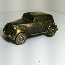 banthrico diecast bank 1935 bronze ford taxi