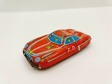 car tin plated small fire chief japan