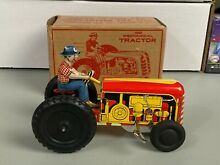 courtland 1950 s mechanical wind up tractor