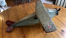 steelcraft 1930 s pressed steel airplane toy