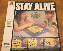 stay alive game by milton bradley almost complete