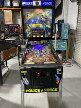 coin op police force pinball machine