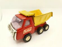 buddy l dump truck red yellow colour 5 5
