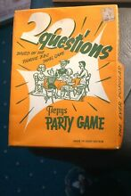 1950 toy pepys party game 20 questions