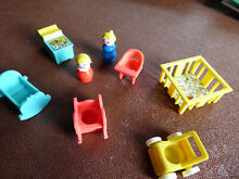 little people fisher price nursery set baby 1972