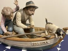lladro porcelain fishing gramps issue year