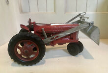 hubley 1950 s red tractor 500