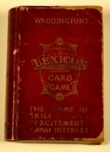 waddingtons lexicon card game book style by
