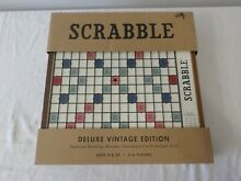 scrabble deluxe edition rotating gameboard w