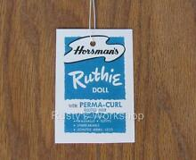 horsman made for 1950 s 1960 s ruthie dolls
