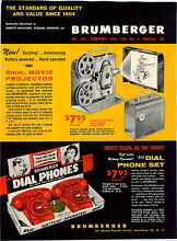 toy movie projector 1959 advert 4 pg brumberger toy