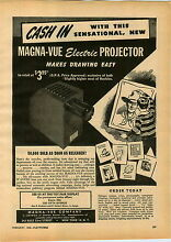 toy movie projector 1946 paper ad toy play madna vue co