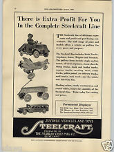 steelcraft 1929 paper ad pull toy pedal car