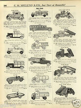 steelcraft 1931 paper ad pedal car cars