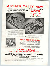 toy movie projector 1938 paper ad allied manufacturing