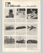 cox model engine 1958 paper ad toy model gas motor