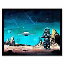 robby the robot movie film painting robby robot