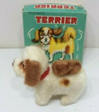 alps mechanical terrier dog wind up toy