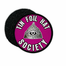 flying saucer patch tin foil hat society ufo fake