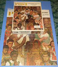 norman rockwell puzzle complete assembled rockwell