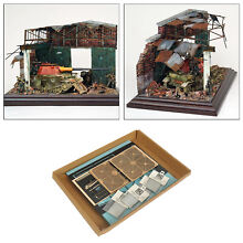 wooden 1 35 dioramas ruins house building