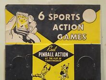 1950 6 sports action pinball game toy s