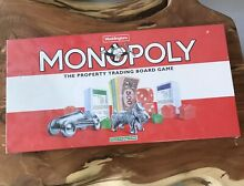 monopoly 1995 waddingtons board game new old