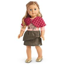 american girl doll winter sightseeing outfit capelet