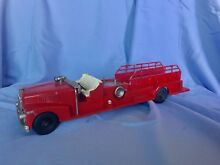 hubley toy large 1950s fire dept fire