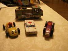 tin wind up 4 car group all are