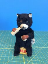 tin windup toy farm milk bear