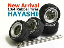 hayashi 1 64 scale rims rubber tires fit