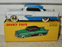 dinky toys france no 24 d plymouth belvedere weiss