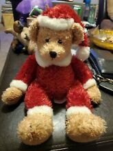 russ berrie christmas red santa outfit brown