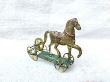 penny toy rare early h a depose litho horse
