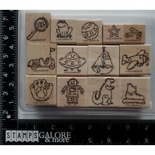 frog model kit stampin up rubber stamps 2002 toy