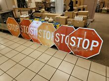 road sign authentic retired stop highway 30 x