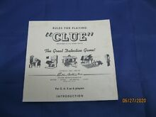 board game directions for clue game by parker