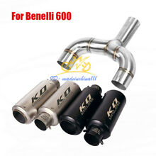 motorcycle exhaust system muffler tip mid link