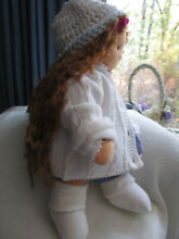 waldorf cuddly doll red hair white sweater