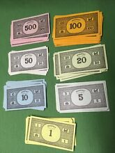 monopoly 1961 money dollars only great
