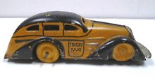 marx toys marx wind up car tricky taxi yellow