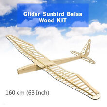 rc plane glider sunbird balsa wood kit