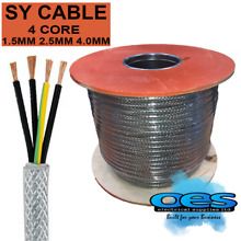 sy braided control cable 4 core 1 5mm