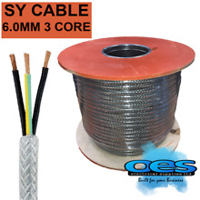 sy 6 0mm 3 core steel braided