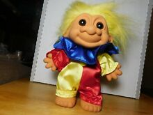 russ berrie toy comp troll doll clown out hat 7