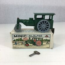 minic motorways boxed green steam roller triang