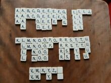 scrabble tiles for craft plastic 1960s 70s