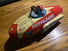 1950 rocket racer tin friction space toy